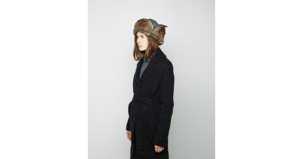 53dd3076e1b Army by Yves Salomon Rabbit Fur Chapka Hat - Lyst