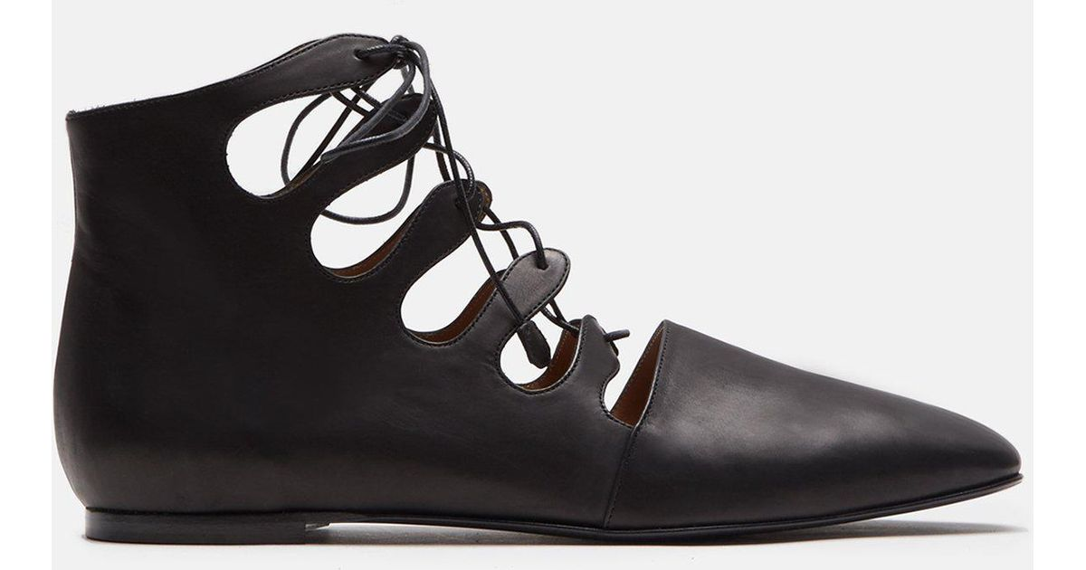 The Row Dimitri leather ankle boots kHj8Xc97