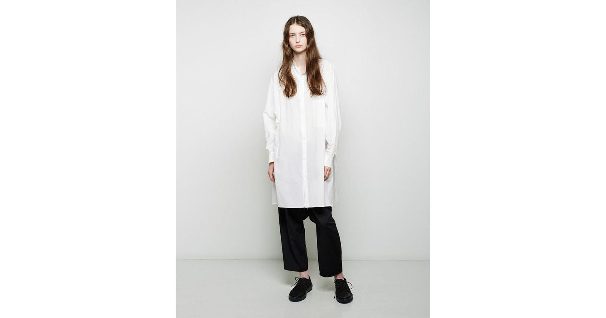 d0b5c10c4924 Y's Yohji Yamamoto Dolman Button Up Tunic in White - Lyst