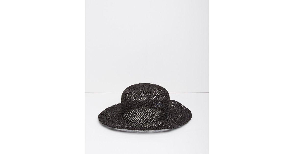 a430f490e Comme des Garçons - Black Straw Hat - Lyst
