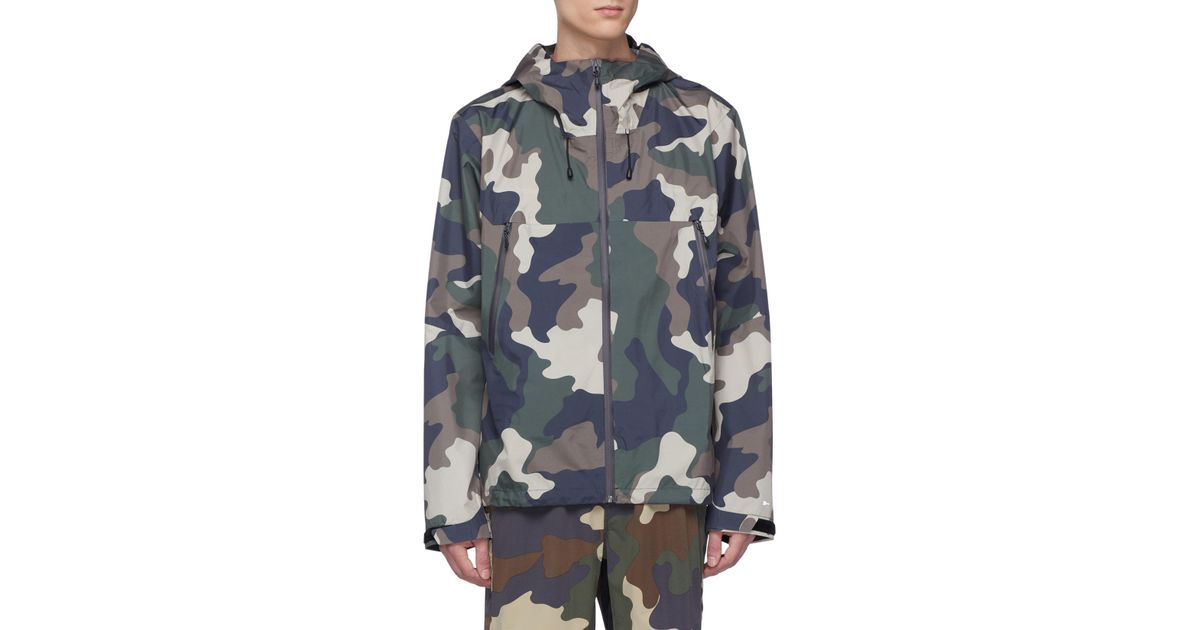 93366eaecc48e The Upside 'all Weather' Camouflage Print Hooded Ripstop Track Jacket for  Men - Lyst