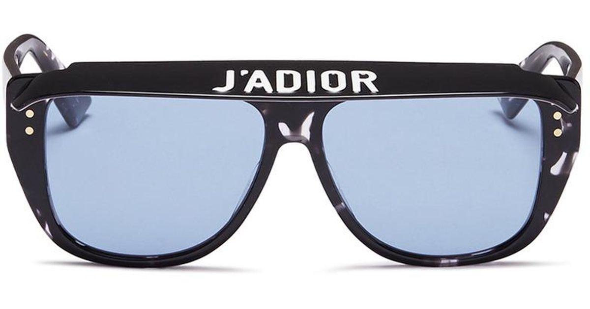 c68b734172 Lyst - Dior   Club 2  Detachable Visor Acetate D-frame Sunglasses in Blue