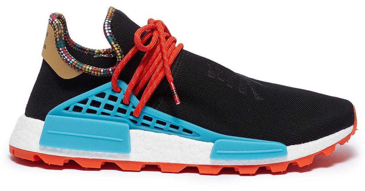 8bfcca6317b80 Lyst - adidas Originals  solarhu Nmd  Slogan Embroidered Primeknit Sneakers  in Black for Men