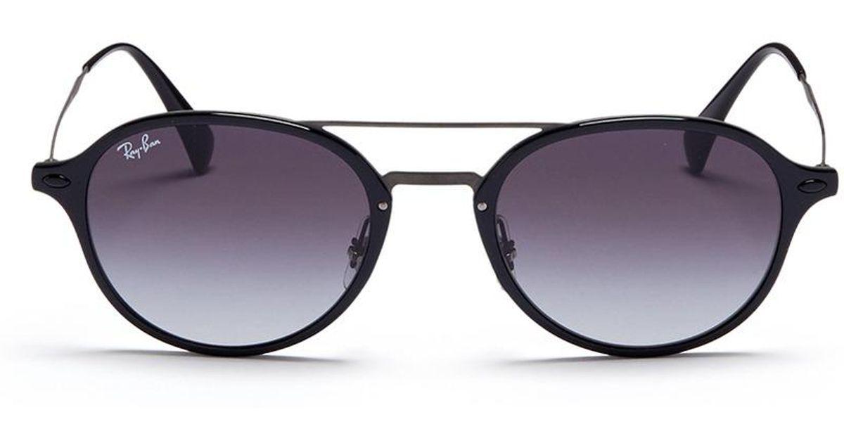 87dc166789 Lyst - Ray-Ban  rb4287 Light Ray  Acetate Rim Metal Sunglasses in Black for  Men