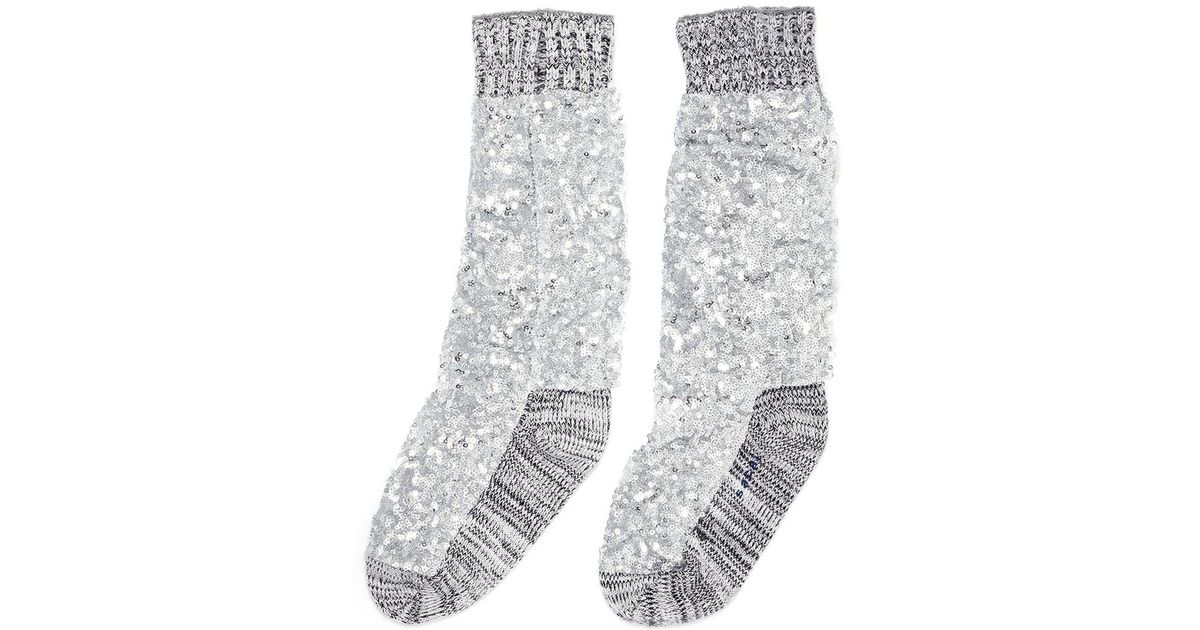 Clearance Free Shipping Buy Cheap Manchester Grey Super Spangle Socks sacai Cheap Sale Visa Payment How Much Cheap Price Cheap Online Store Manchester uhmN4DSsze