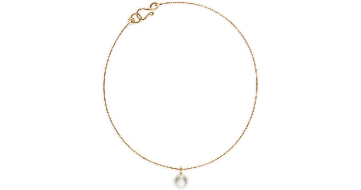 Gold Metallic Perle' Bracelet Bille Akoya 14k Sophie Brahe De Pearl Lyst 'palme qVzSpUMG