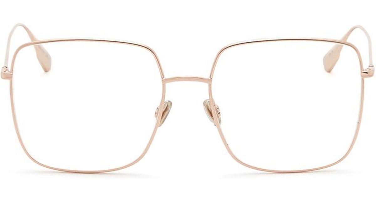 1d8fd89ae60c Lyst - Dior   Stellaire O1  Metal Sqaure Optical Glasses