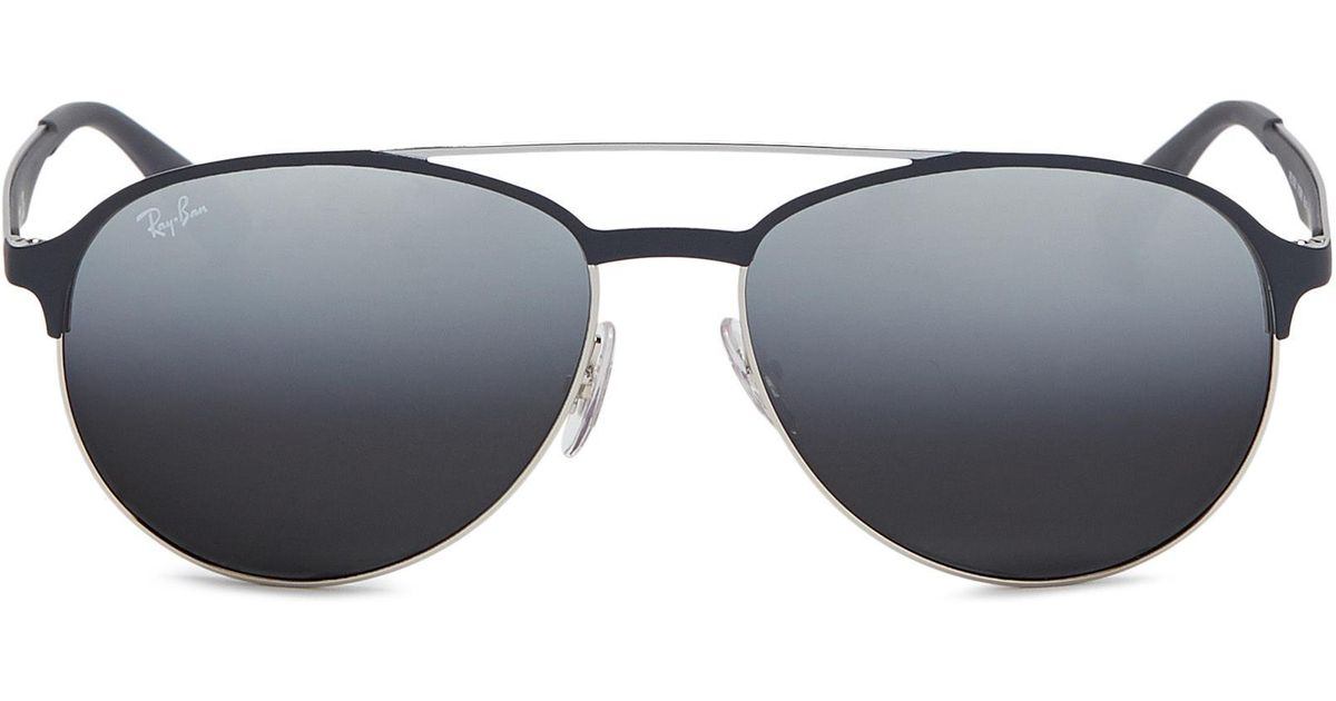 Ray-Ban  rb3606  Mirror Metal Aviator Sunglasses in Gray for Men - Lyst 426f4024a941
