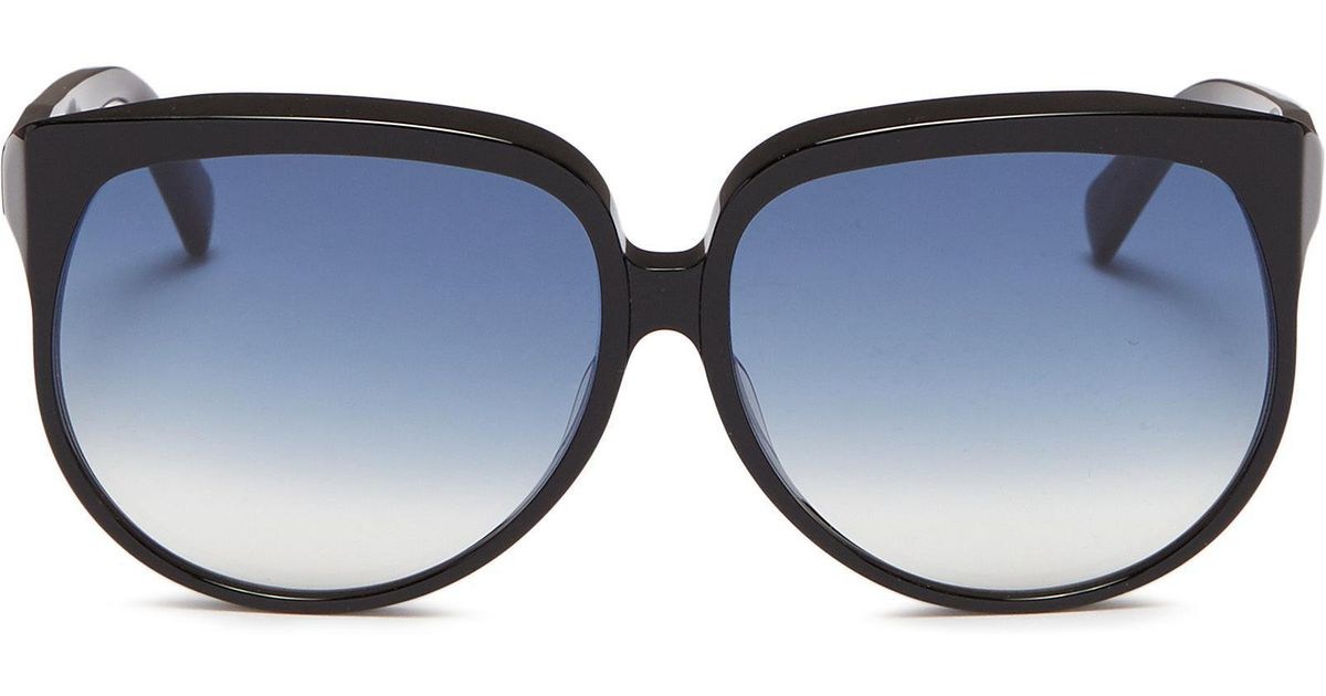 3ac0db9d7e82 Lyst - Céline Acetate Oversized Round Sunglasses in Black