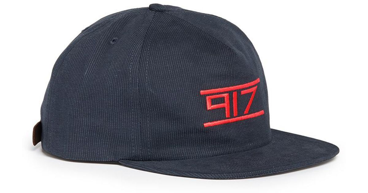 Nine One Seven  sound System  Logo Embroidered Baseball Cap in Black for Men  - Lyst 2da19e20d059