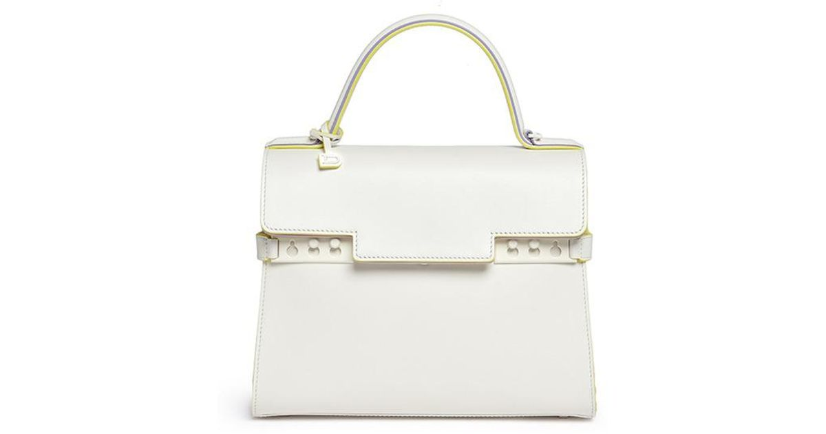 867f35862 Delvaux 'tempête Mm' Leather Bag in White - Lyst