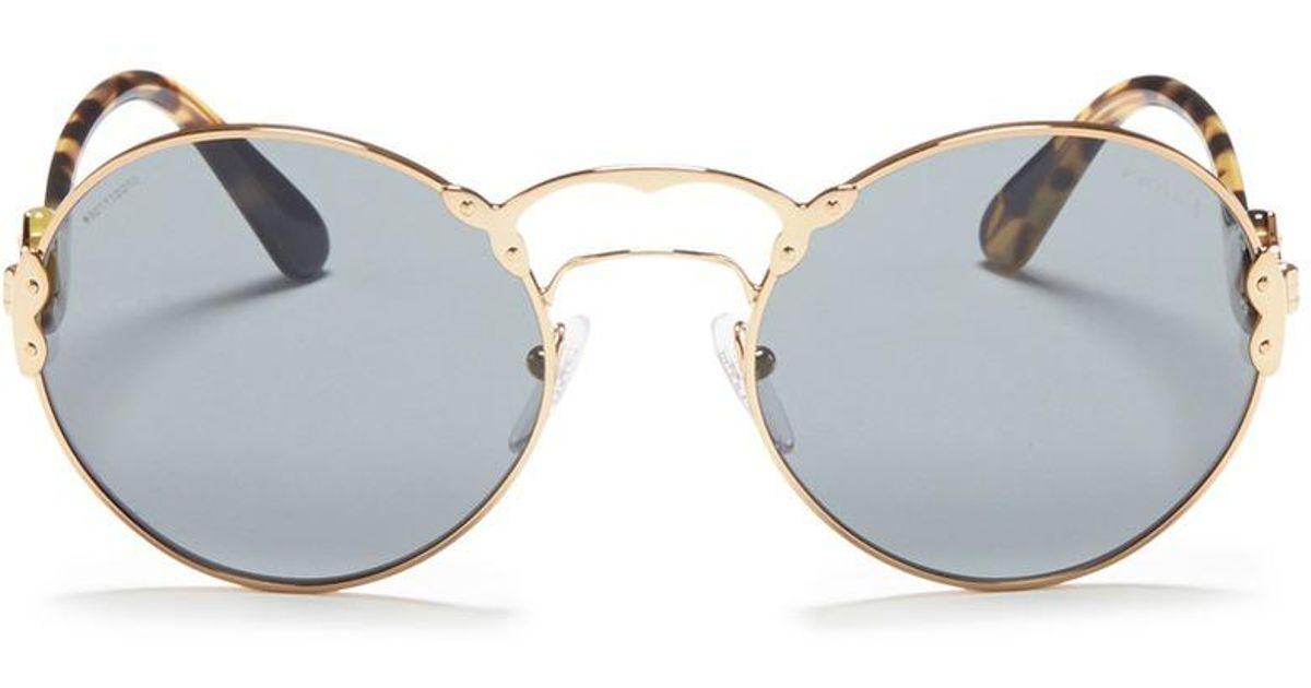 fce6ce9a47fe6 Prada   Wanderer  Tortoiseshell Temple Metal Rivet Scroll Sunglasses in  Gray for Men - Lyst