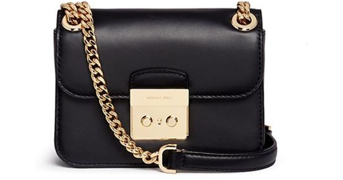 7b08d1f506e033 Michael Kors 'sloan Editor' Small Chain Crossbody Bag in Black - Lyst