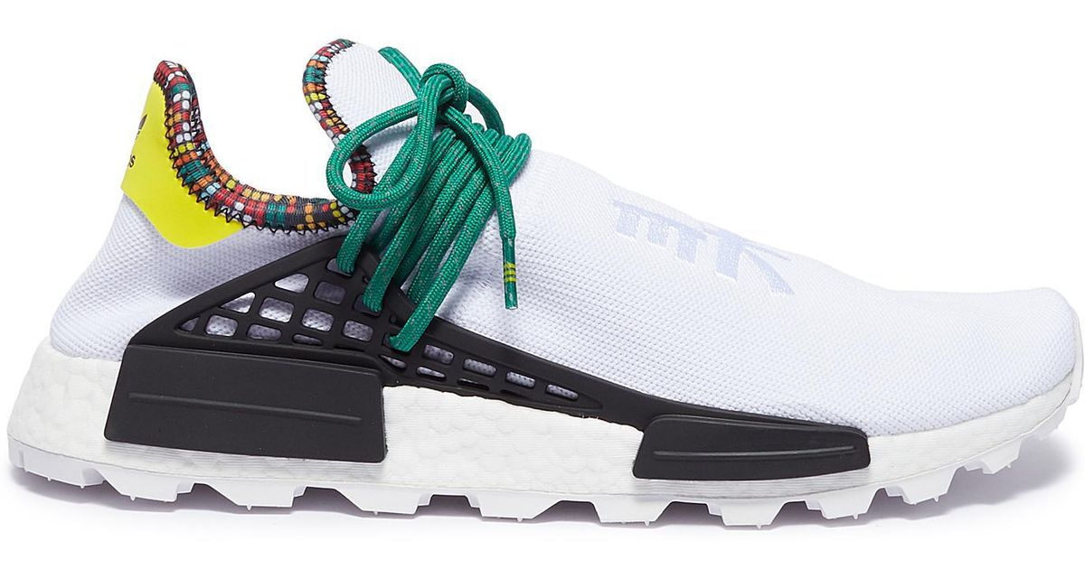 348d73b9d24df Lyst - adidas Originals  solarhu Nmd  Slogan Embroidered Primeknit Sneakers  in White for Men