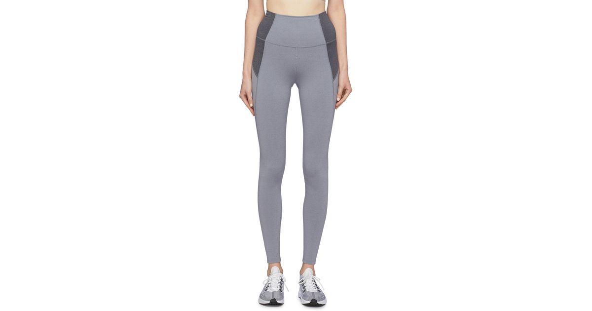 351f3bd7cc583 Lyst - LNDR 'contour 7/8' Colourblock Performance leggings in Gray for Men