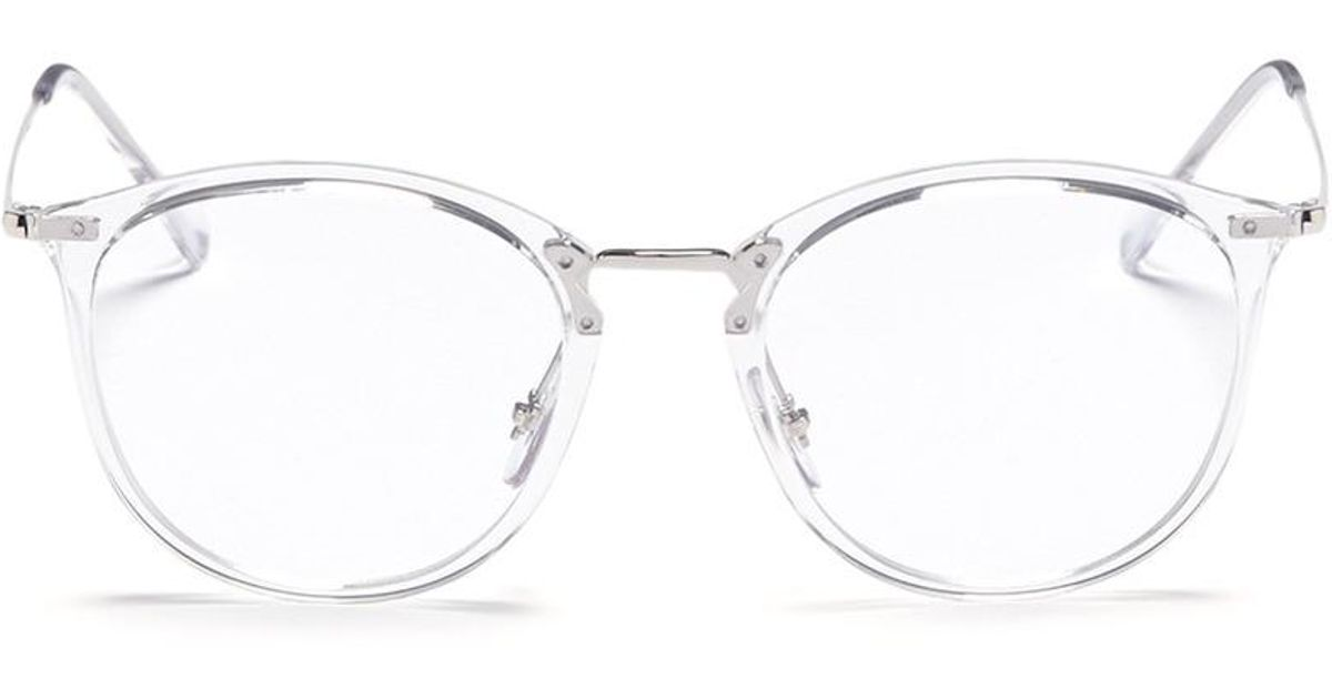 475c67ee21 Lyst - Ray-Ban  aviator Optics  Tortoiseshell Front Metal Optical Glasses  for Men