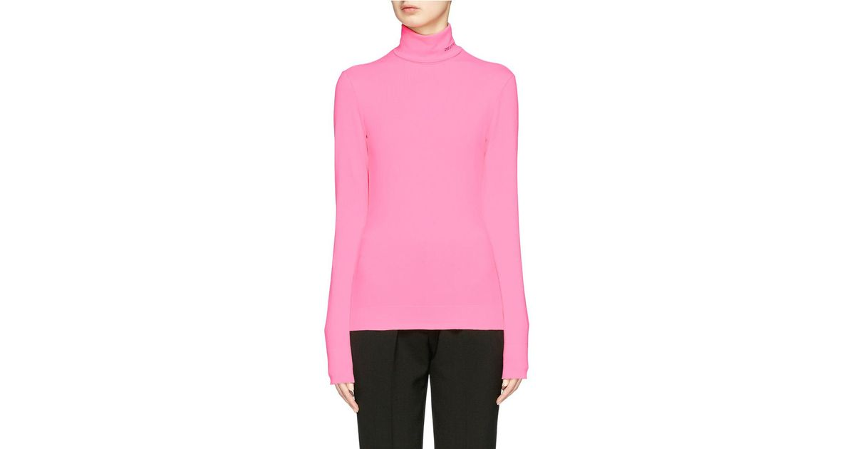 Sale Low Cost Discount Geniue Stockist Jersey mock turtleneck with embroidered logo CALVIN KLEIN 205W39NYC Reliable Cheap Online Supply Cheap Online Get Authentic Sale Online 9D5zIVYW