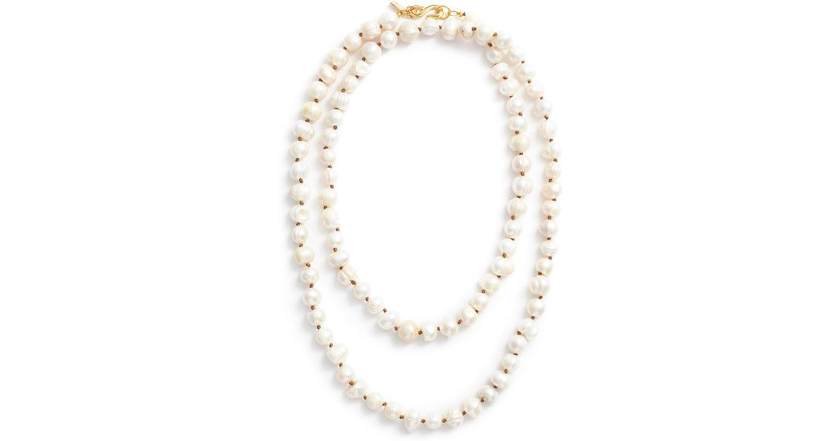 Donna Pizarro Designs Baroque Freshwater Pearl, Sapphire, Morganite Necklace
