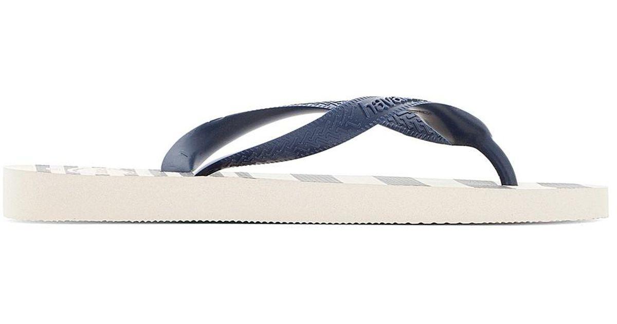 33edaca1e Lyst - Havaianas Top Retro Flip Flops in Blue