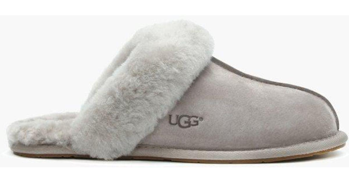 30a8002910a Lyst - UGG Women s Scuffette Ii Oyster Shearling Slippers in Gray