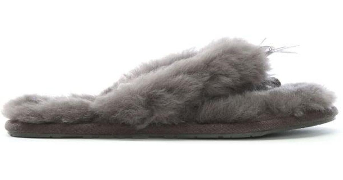 b4be572b0 UGG Grey Fluff Flip Flop Ll Women's Slipper in Gray - Lyst