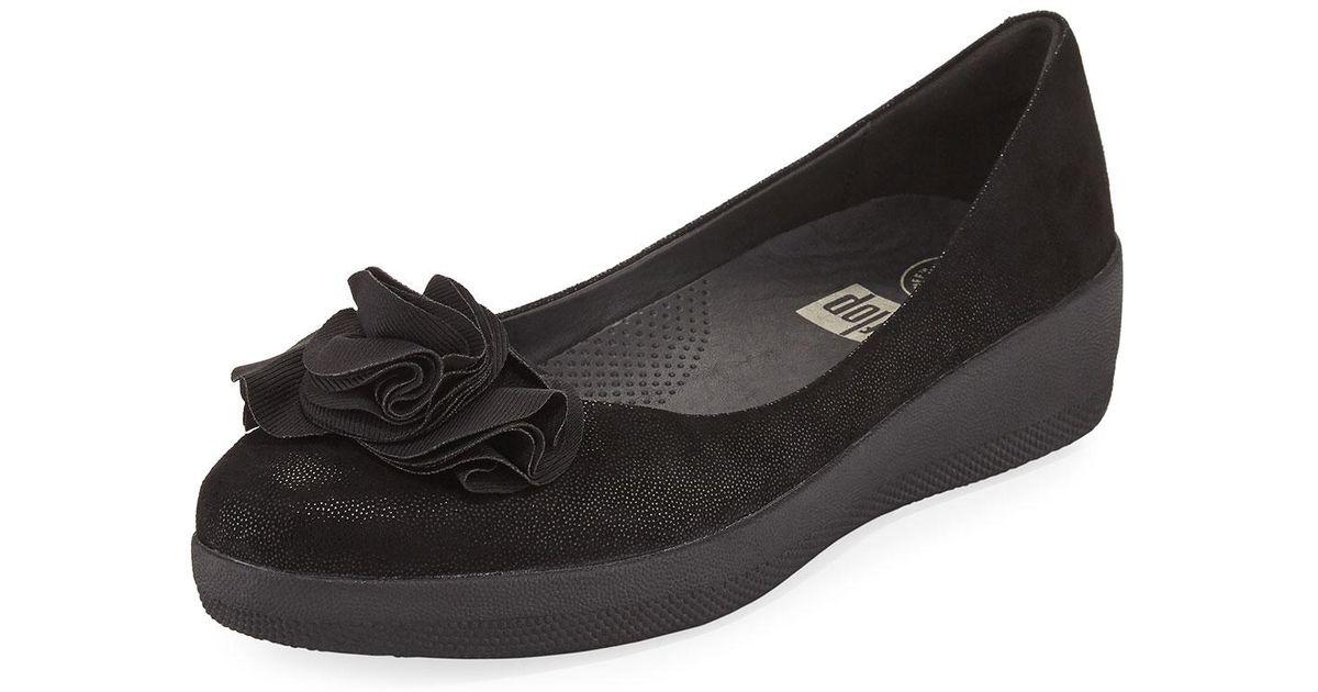 841a3e86e Lyst - Fitflop Florrie Super Ballerina Flat in Black