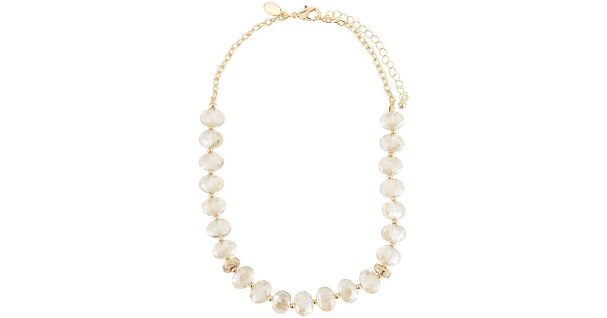 Fragments Lucite & Crystal Statement Necklace