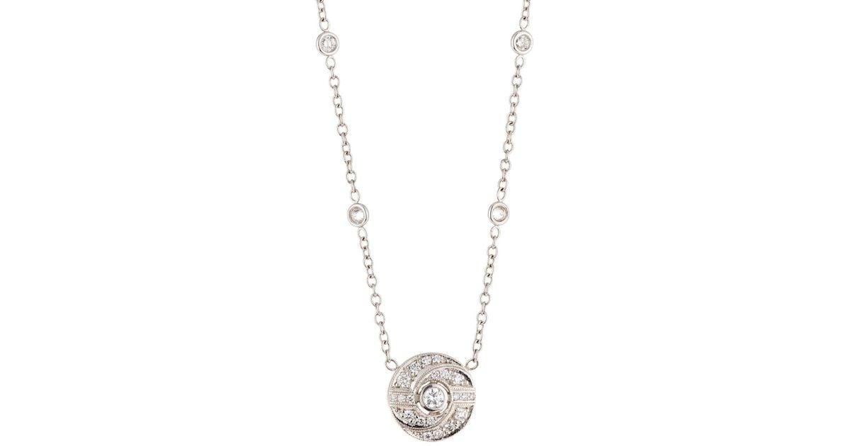 Penny Preville 18k Trillion-Cut Diamond Pendant Necklace ifKDlVM