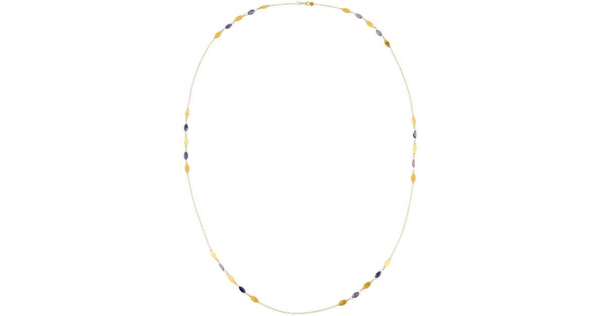 Gurhan Willow Bloom 24k Long Cluster Station Necklace w/ Iolite s0TbQwH0Rg
