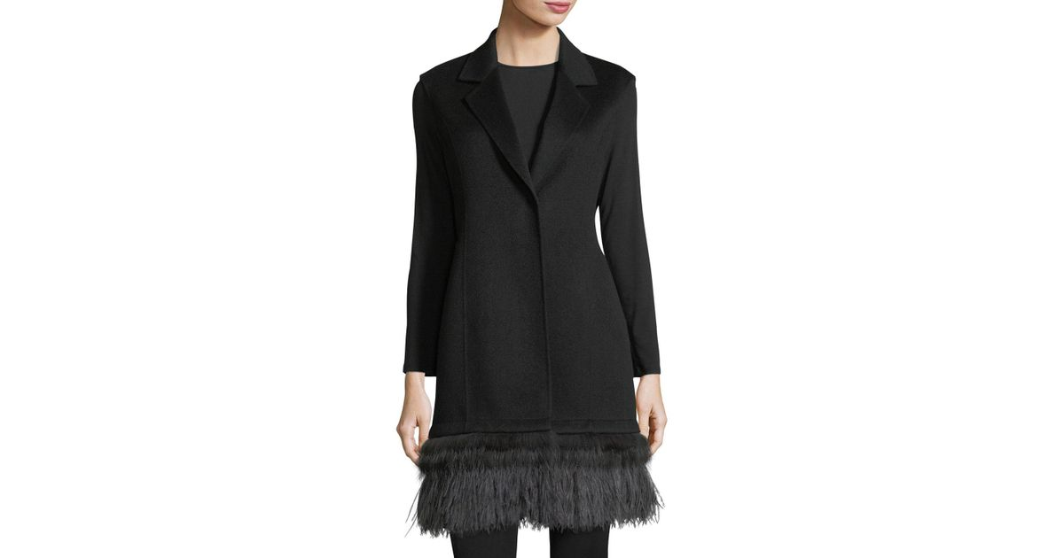 Luxury Double-Face Cashmere Vest w/ Fox Fur & Ostrich Feather Trim Neiman Marcus Free Shipping Shopping Online Cheap Sneakernews For Cheap Sale Online Clearance With Mastercard For Sale Very Cheap XzJ71b