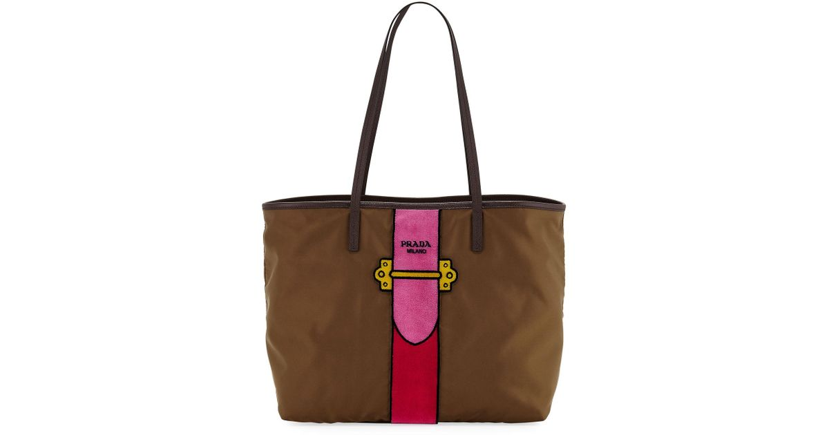 Loeil Bag Trompe Prada Marrón Tote 0Xqxx4S