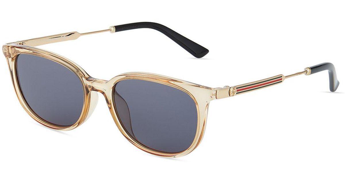 3669b6af4da03 Lyst - Gucci Round Plastic metal Sunglasses in Natural