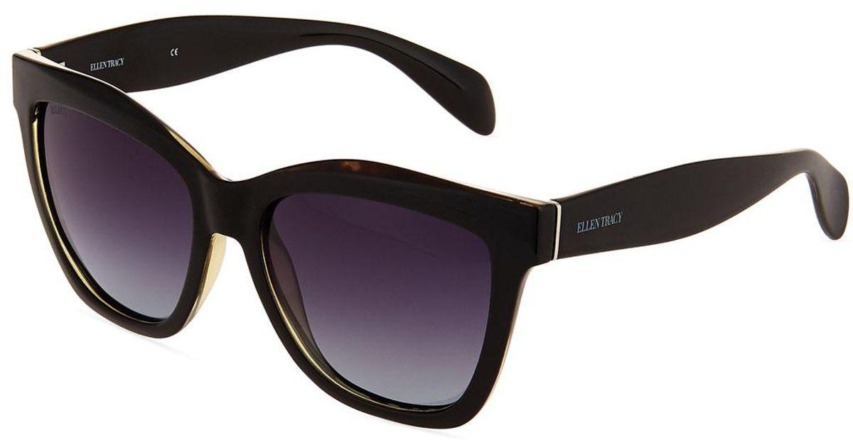 86885707db Lyst - Ellen Tracy Plastic Square Sunglasses in Black
