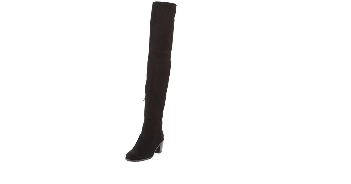 309ad727a48 Lyst - Stuart Weitzman Hitest Over-the-knee Suede Boot in Black