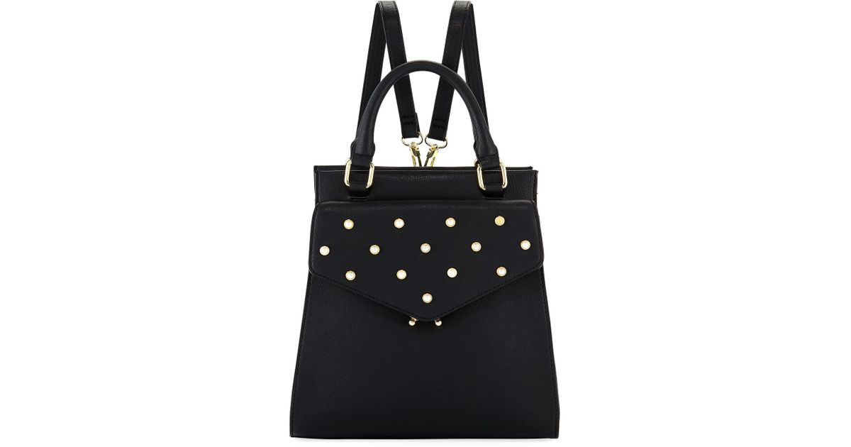Lyst - Neiman Marcus Pearly Framed Backpack in Black