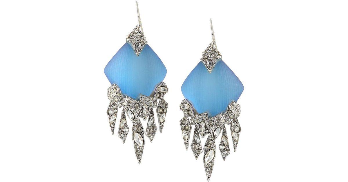 Lyst - Alexis Bittar Crystal Chandelier Wire Drop Earrings in Blue