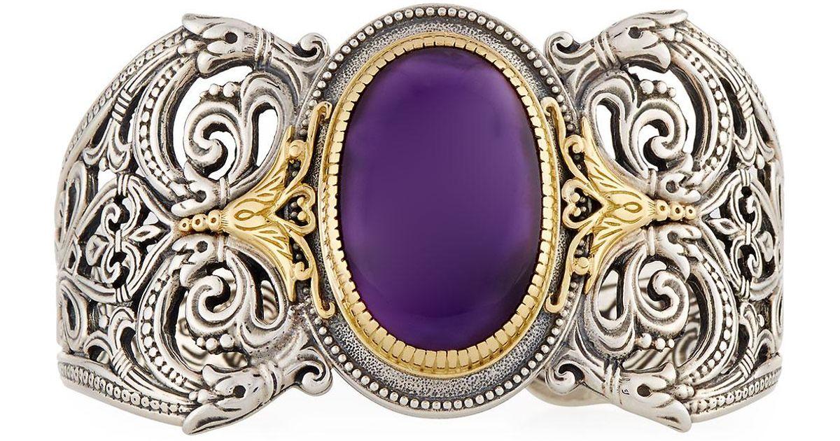 Konstantino Erato Filigree Cuff Bracelet w/ Labradorite Doublet v9mB0BChW