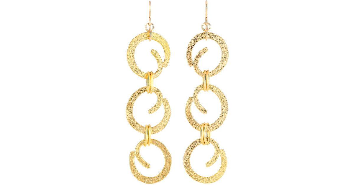 Devon Leigh Triangle Chain Drop Earrings IMapXpG7iz