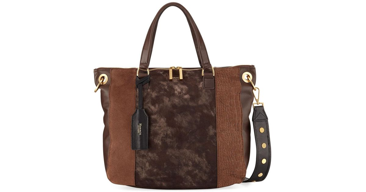 86acbabf43ec Lyst - Hammitt Daniel Limited Edition Suede Shoulder Bag in Brown