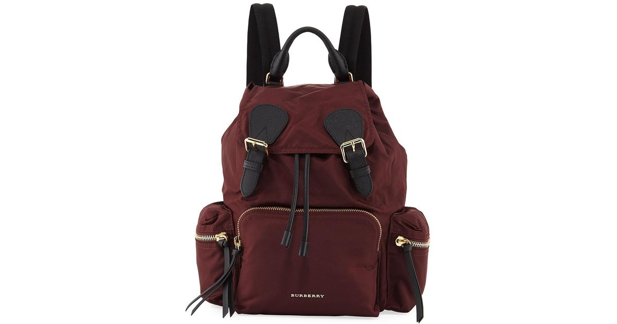 a5aad3b8d506 Lyst - Burberry Medium Rucksack Nylon Backpack in Red