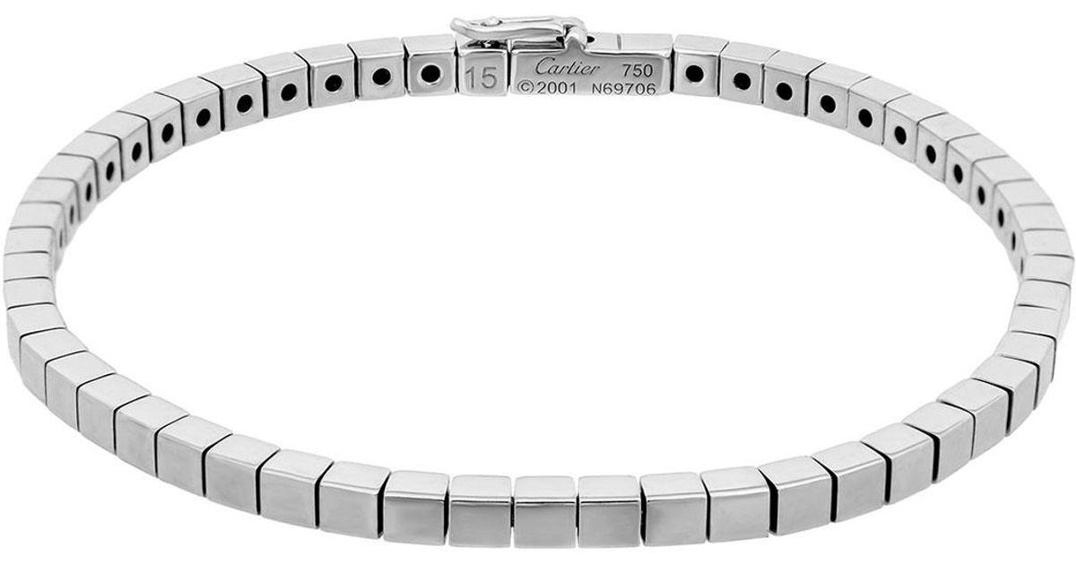 502683c1f037c Cartier - Metallic Estate 18k White Gold Lanieres Bracelet - Lyst