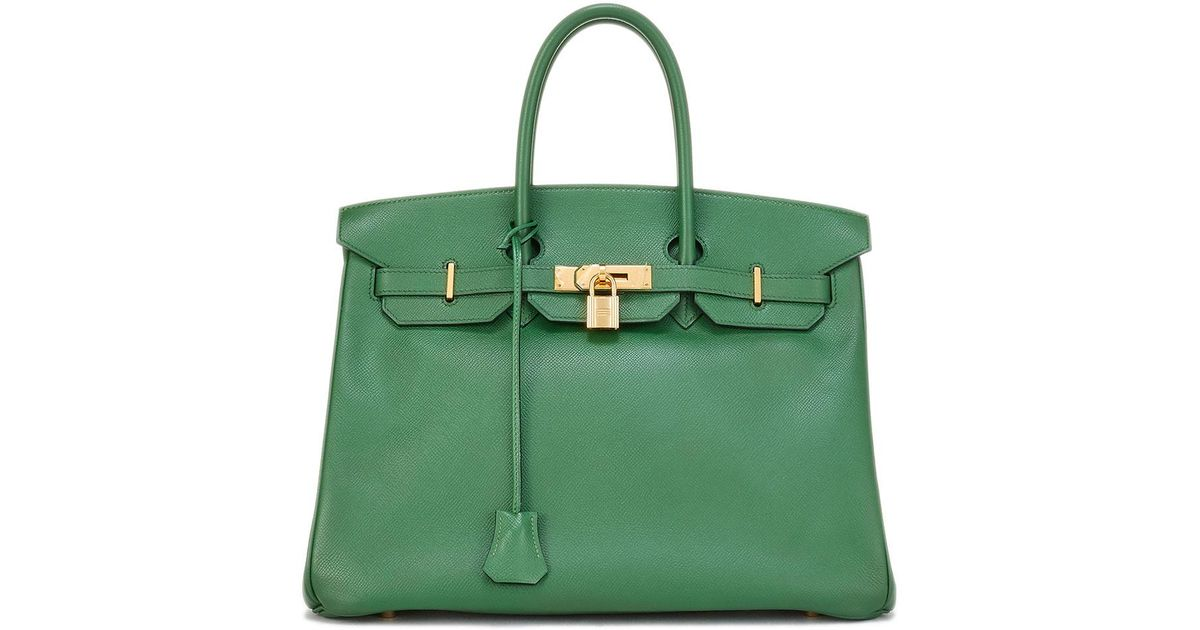 1f798659dd Lyst - Hermès Vintage Bamboo Birkin Courchevel Satchel Bag in Green