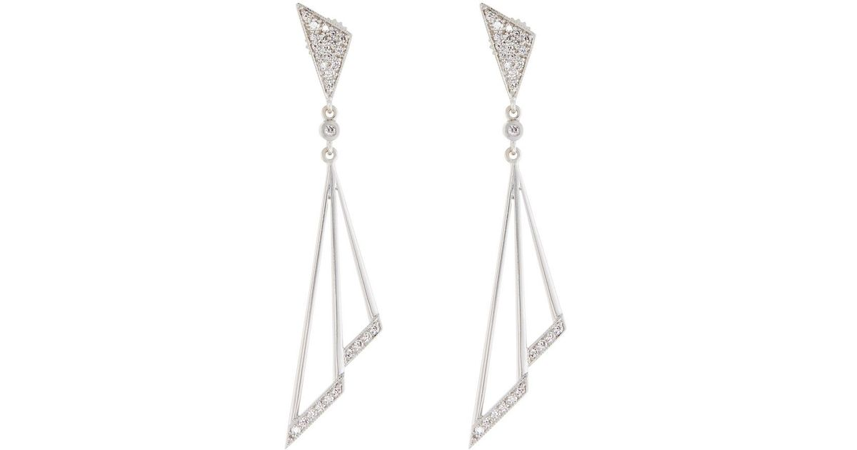 Penny Preville Firebolt 18k White Gold Dangle Earrings Mr6YTa