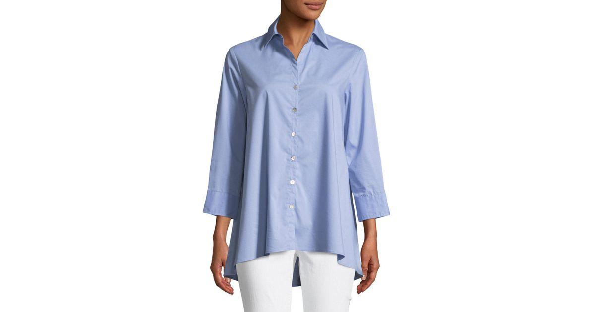 a7468b23 Lyst - Finley Trapeze 3/4-sleeve Swing Shirt in Blue