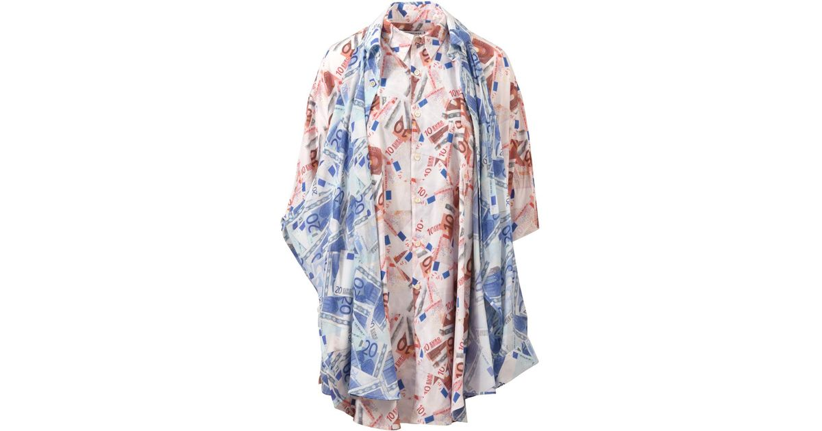 9fd7bd34 Balenciaga Double Euro Shirt in Pink - Lyst