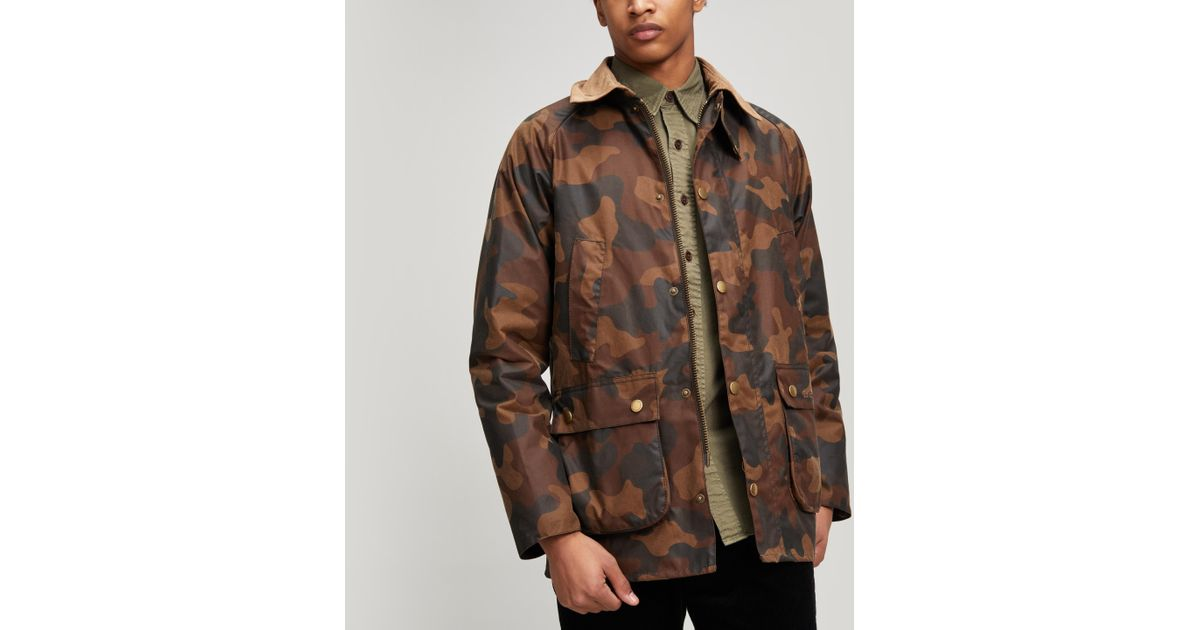 c491e6302706f Barbour Camo Bedale Jacket in Green for Men - Lyst