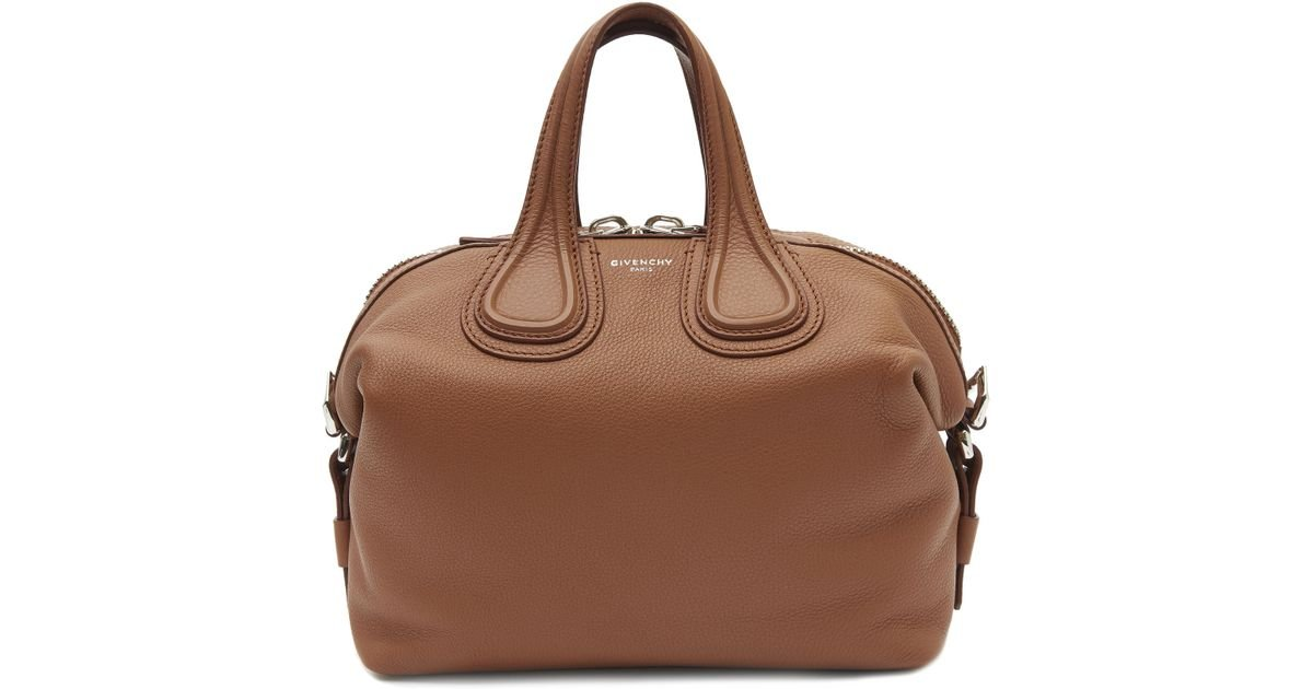 39438dc988f Lyst - Givenchy Small Waxy Leather Nightingale Bag in Brown