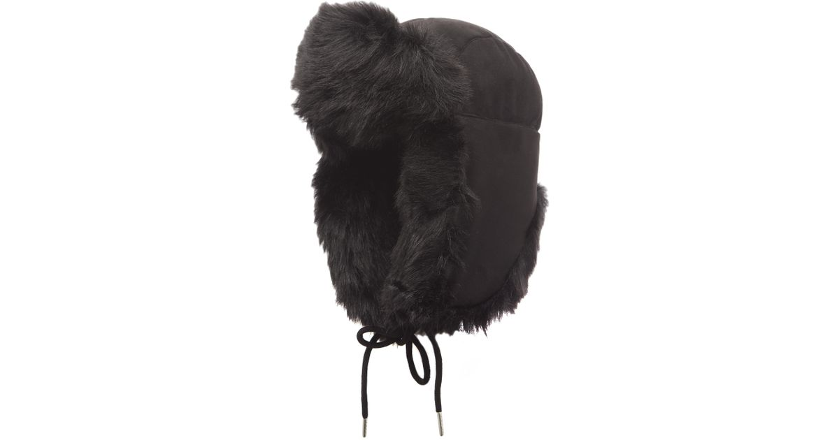 f98c2dab0a231 Charlotte Simone Helmet Head Faux Fur And Suede Trapper Hat in Black - Lyst