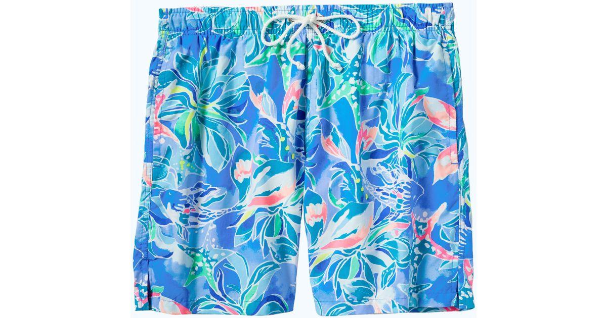 daa987723a Lilly Pulitzer Mens Capri Swim Trunk in Blue for Men - Lyst