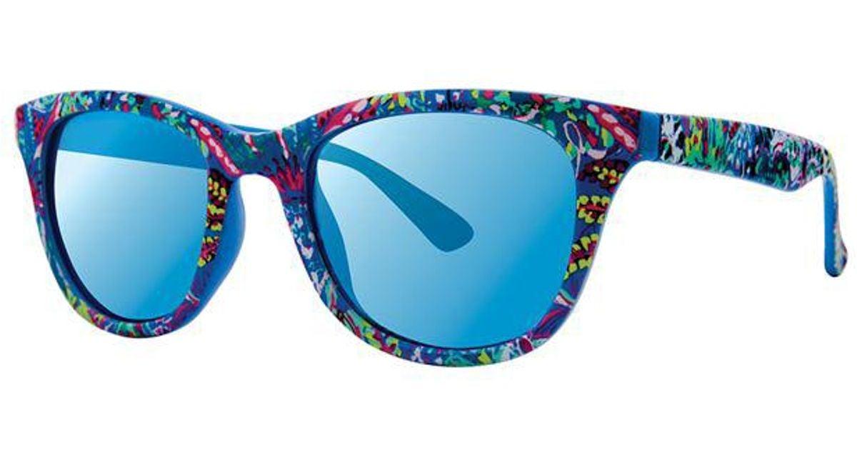 4a53968cbf Lyst - Lilly Pulitzer Maddie Sunglasses in Blue